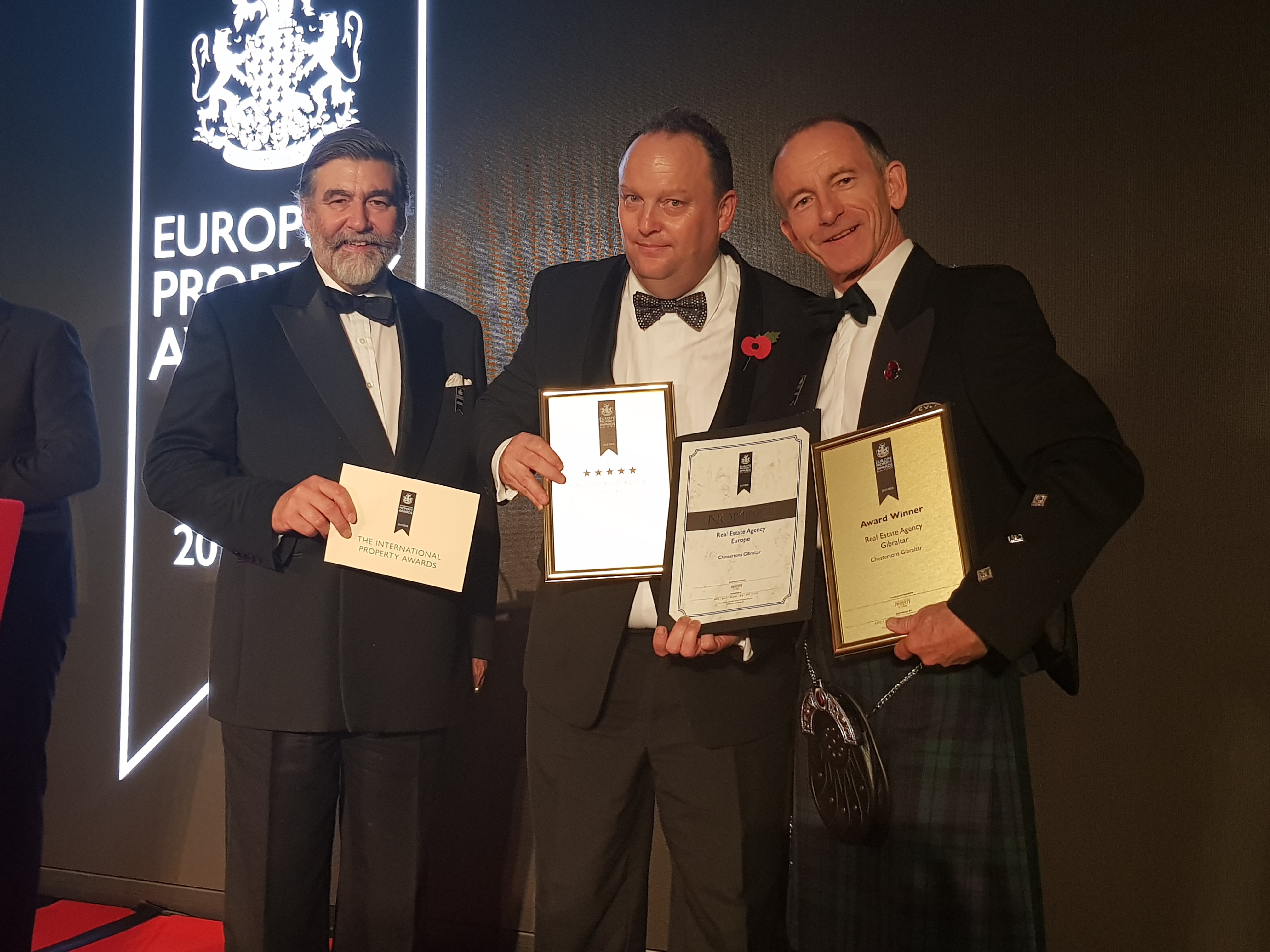 Chestertons wins 'Best Estate Agency in Gibraltar for 2017/18' at The European Property Awards  Image