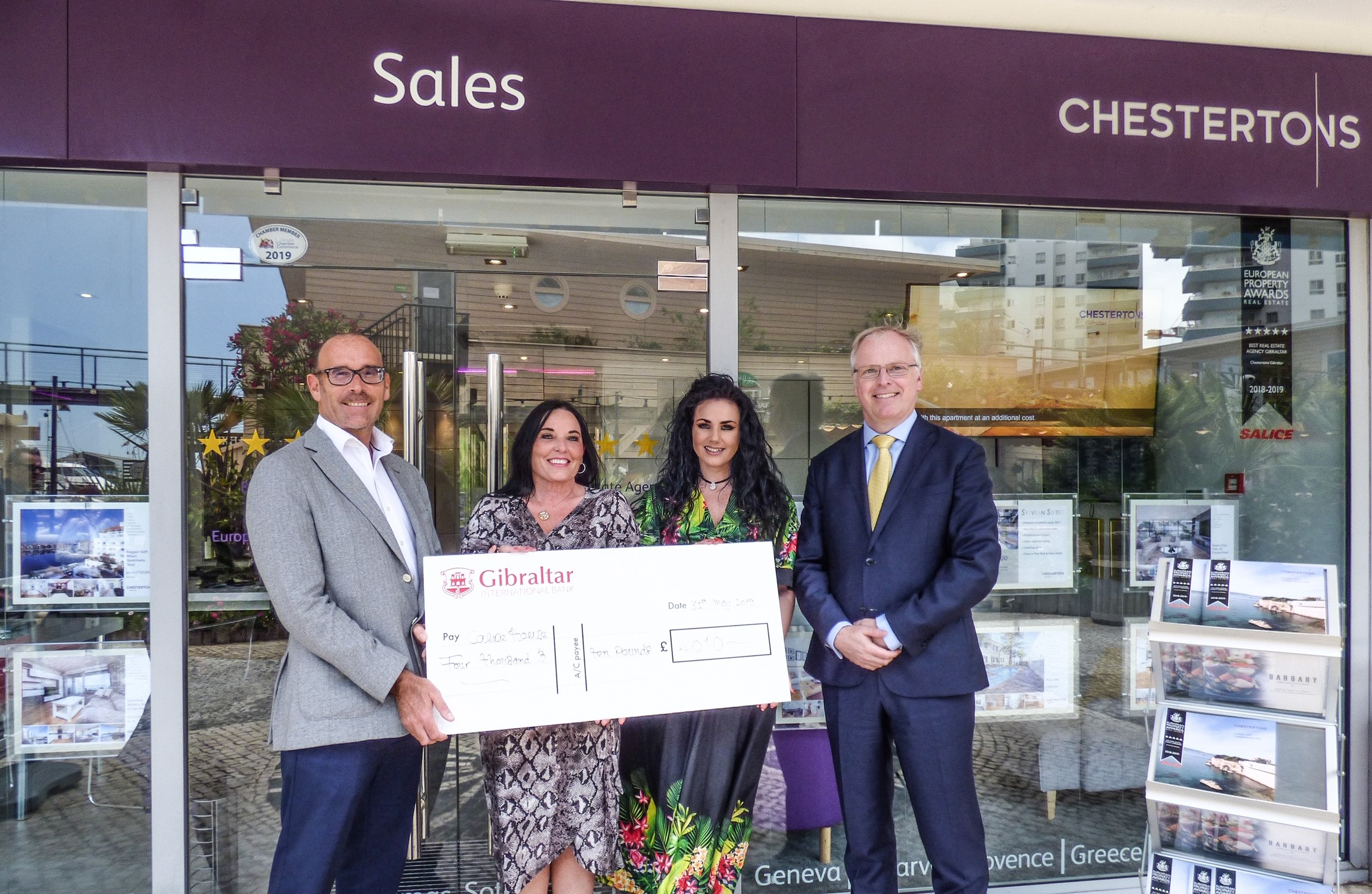 Chestertons, Sovereign Insurance and Little Bay raise £8,000 for charity  Image