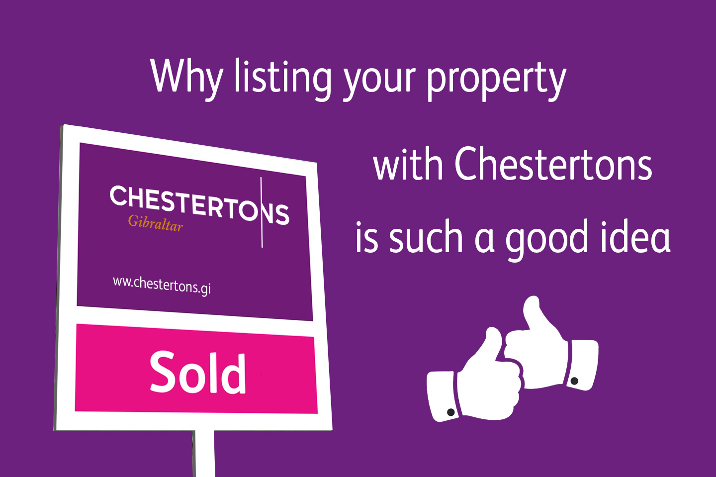 Why you should list your property with Chestertons Gibraltar Image