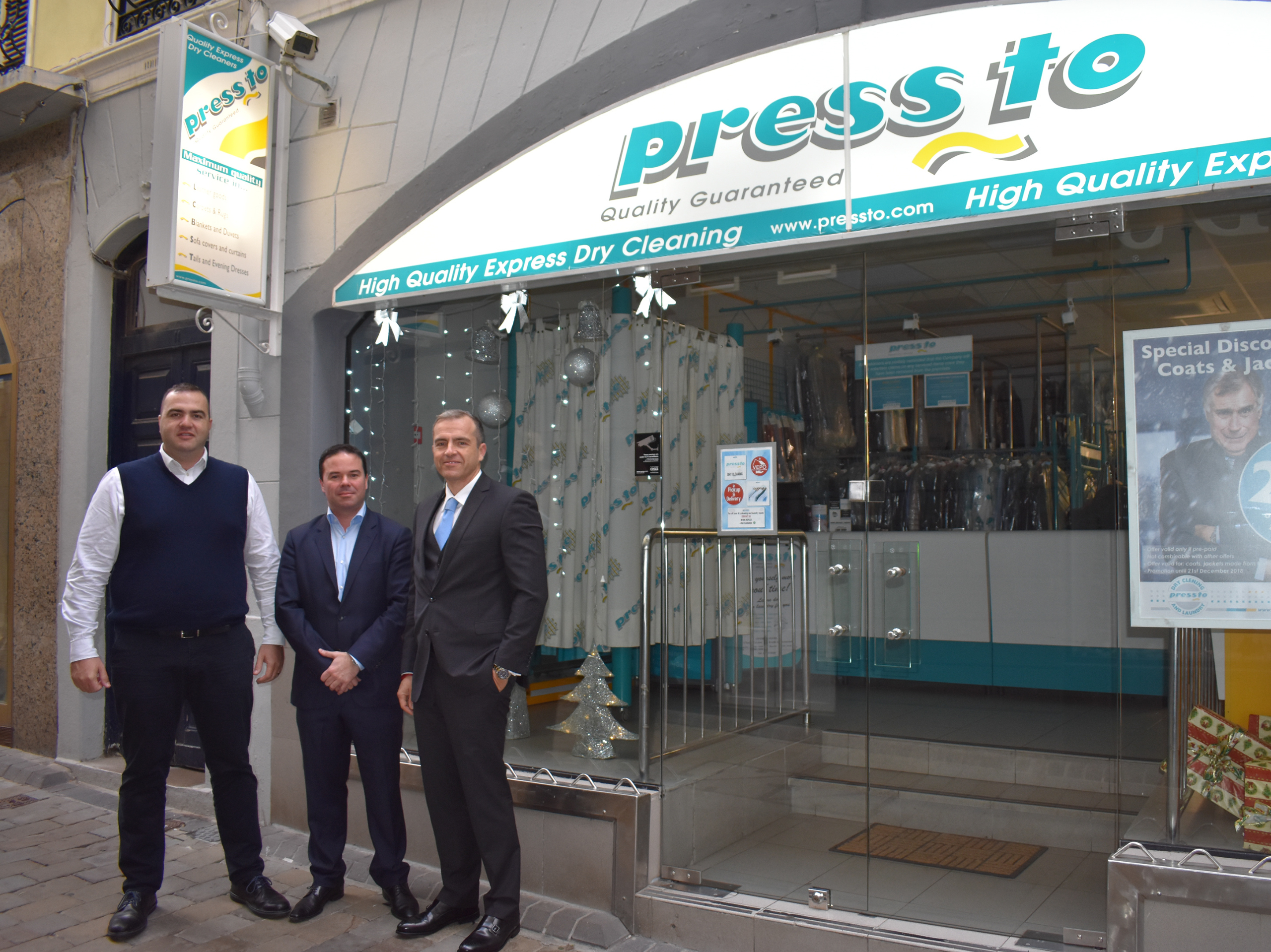 E1 attracts Gibraltar's dry cleaners, Pressto, to its new development Image
