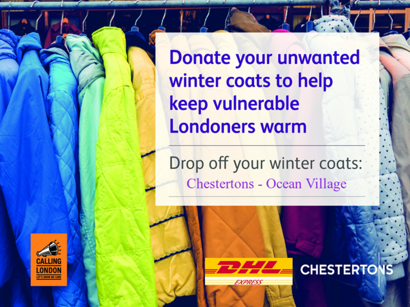 Chestertons' Charity Appeal - coats for the homeless and vulnerable Image